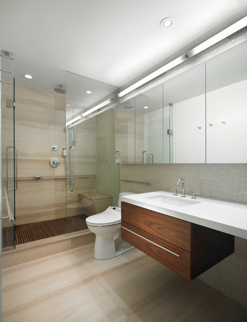 Scandinavian Modern Condominium Bathroom