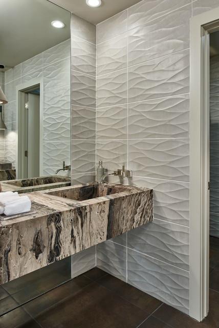 Scandinavian modern guest bed bath houston interior for Bathroom interior design houston