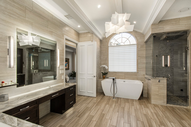 Scarborough Master Suite Transitional Bathroom Dallas By Hatfield Builders Remodelers
