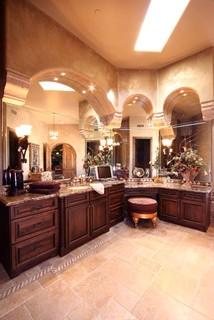 Scottsdale Mountain residence - Mediterranean - Bathroom - phoenix - by Theresa Franklin, ASID