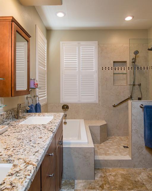 Scripps ranch california bathroom remodel contemporary for Modern ranch bathroom
