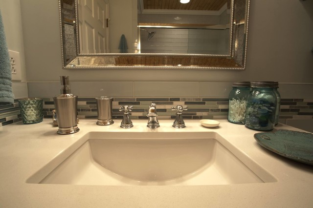 Sea Glass Inspired Bathroom Contemporary Bathroom Other By Holmes By Design