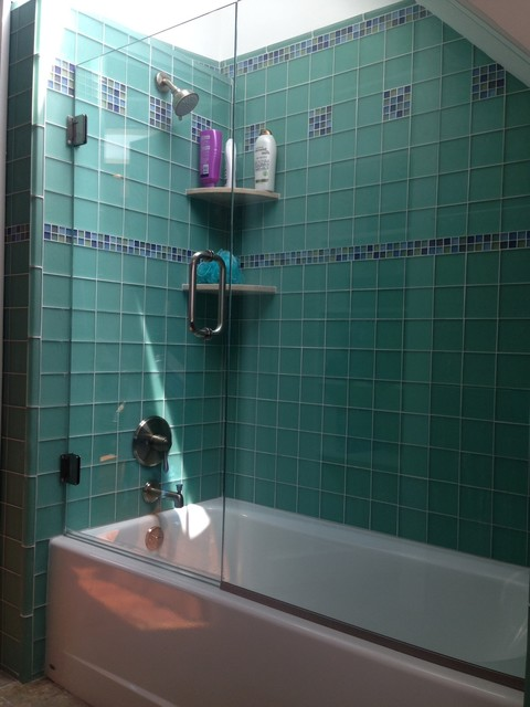 sea glass tile bathroom sea glass tile modern bathroom new york by brian 20315