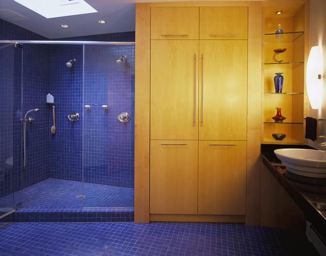 Sea of Blue modern-bathroom