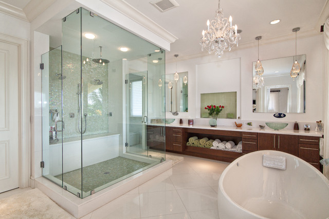 Sea Ranch Lakes Home Transitional Bathroom Miami By Trilogy Construction Company