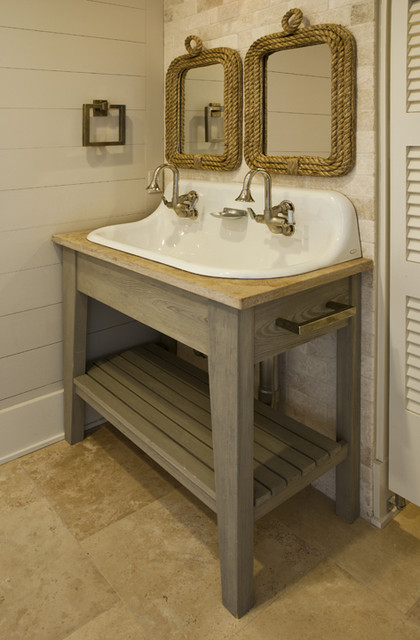 Seagrass Coastal Tropical Bathroom Charleston By Brown Contractors Fine Custom Homes