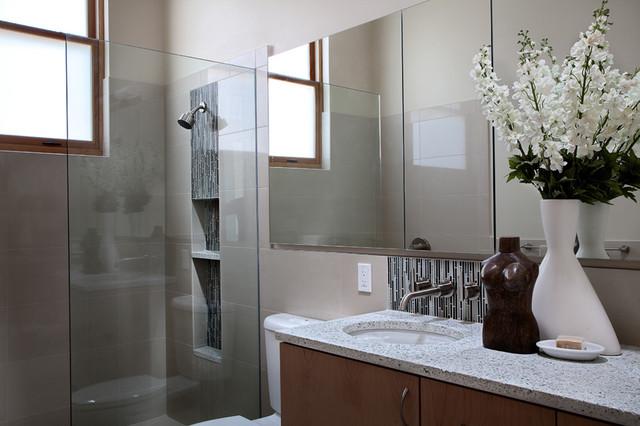 Seattle Green Custom Home Contemporary Bathroom