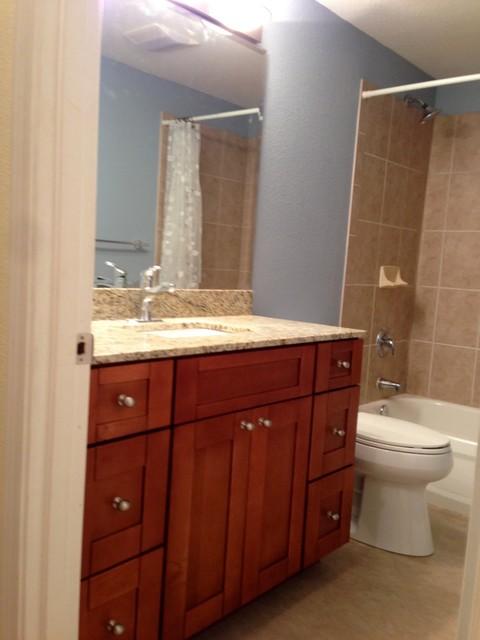 Seattle rental property remodel traditional bathroom for Bath remodel seattle