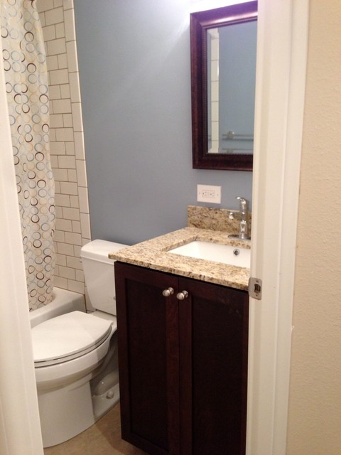 Seattle Rental Renovation Traditional Bathroom Seattle By Parr Cabinet Design Center