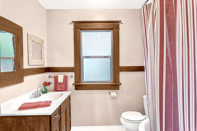 Seattle Staged Charming Cottage traditional bathroom