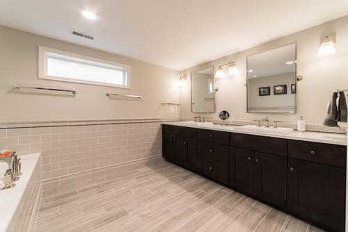 Contemporary Bathroom Renovation in Fox Valley IL