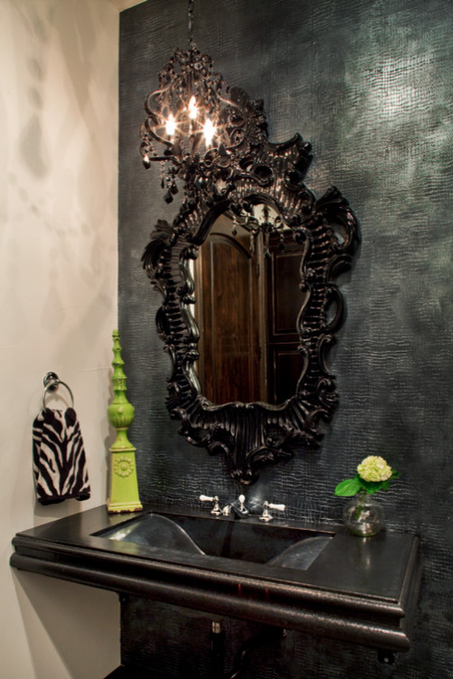 Example of an eclectic bathroom design in Austin