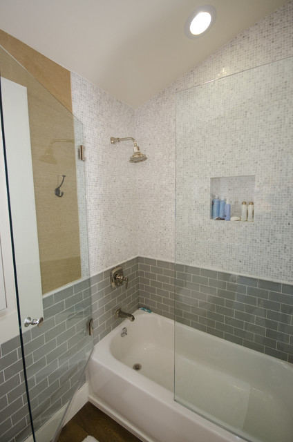 Secondary bathroom eclectic bathroom los angeles for Bathroom design build