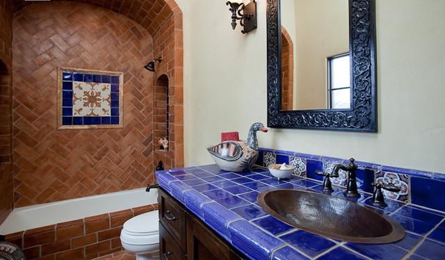 Small bathrooms mediterranean bathroom austin by for Small mediterranean bathroom