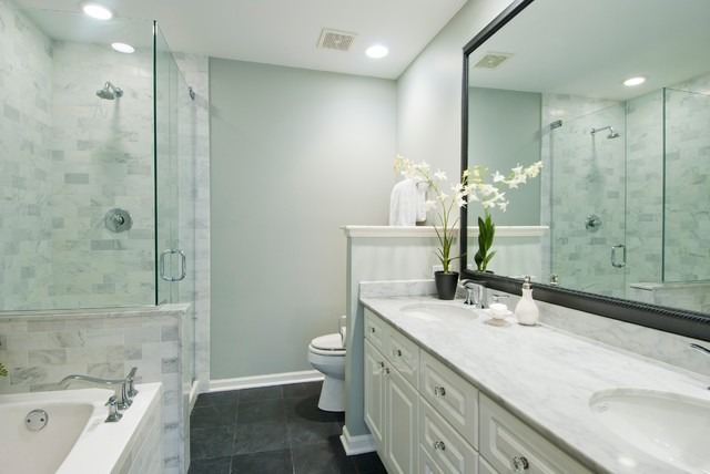 Sedgwick Update - Transitional - Bathroom - Chicago - by ...