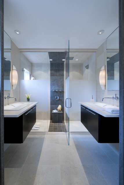 Master suite renovation, Falls Church, VA modern bathroom
