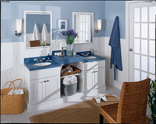 seifer bathroom ideas beach style bathroom new york by seifer kitchen design center - Beach Style Bathroom