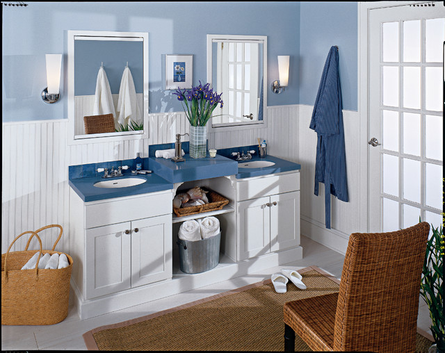 Seifer bathroom ideas beach style bathroom new york for Beach inspired kitchen designs