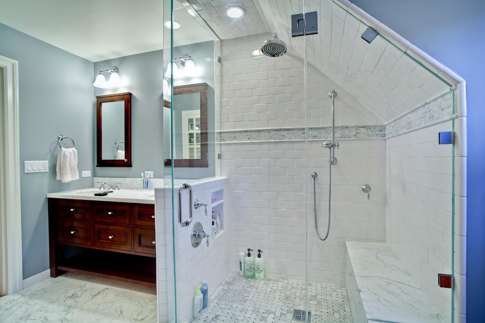 Inspiration for a timeless subway tile bathroom remodel in San Francisco