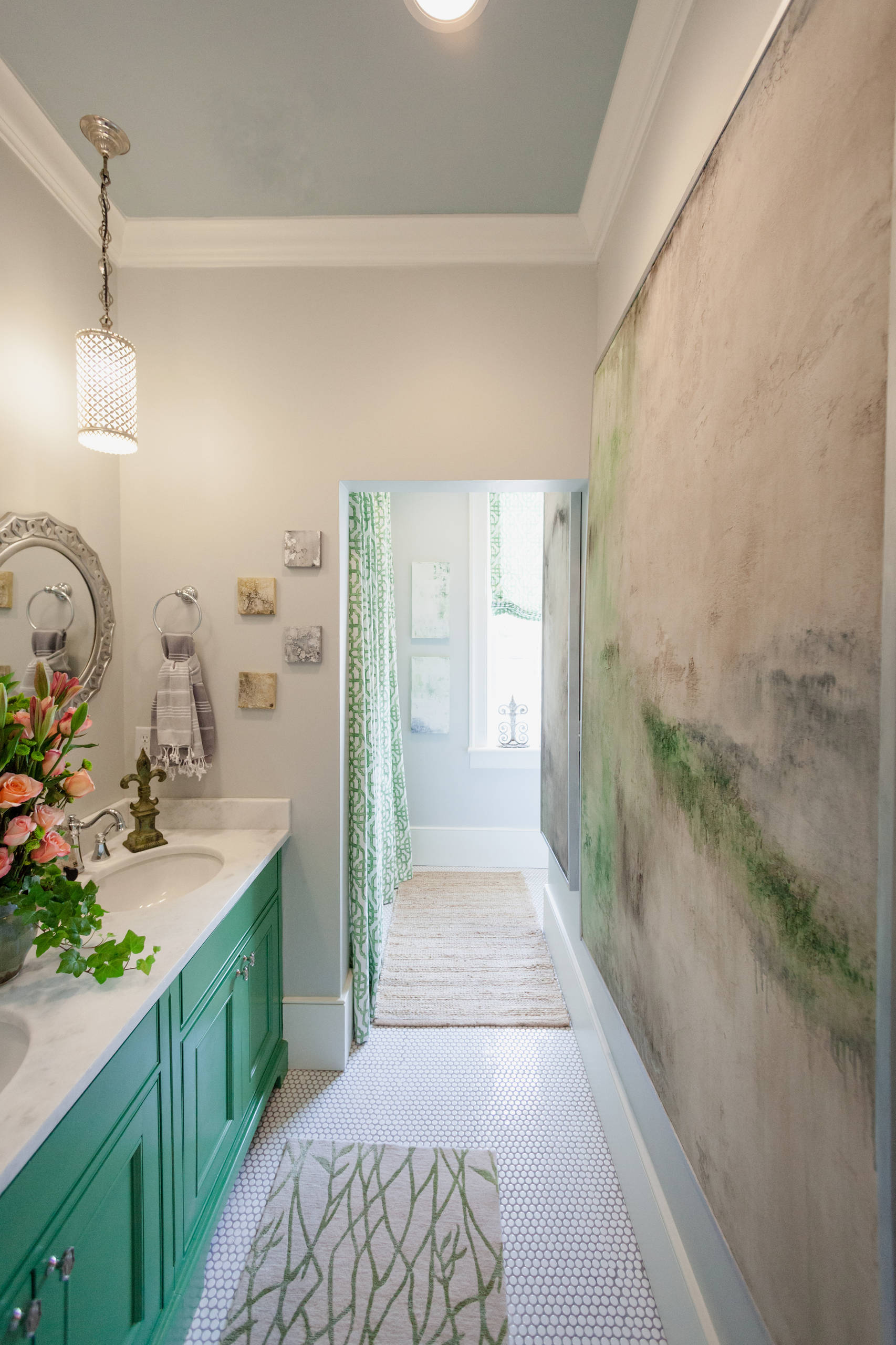 Separate spaces for bathroom functions improves family harmony.  We promise!
