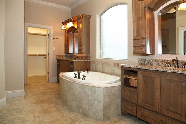 Separate Vanity and Tub traditional-bathroom