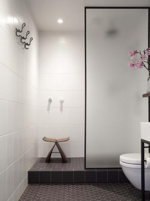 Romantic master bath shower area with winckelmans tile for Romantic master bathroom