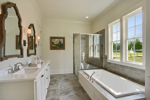 Serene Master Retreat traditional-bathroom
