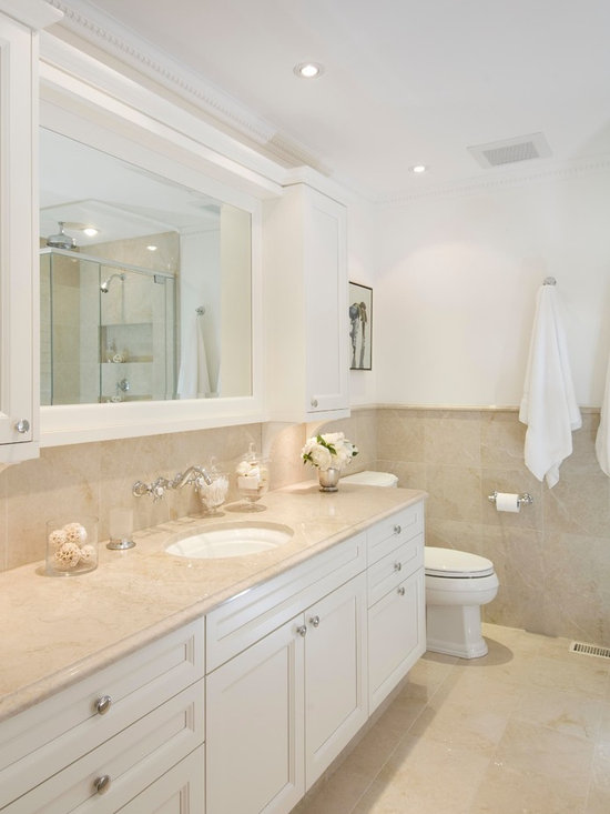 Crema Marfil Bathroom Home Design Ideas, Pictures, Remodel and Decor