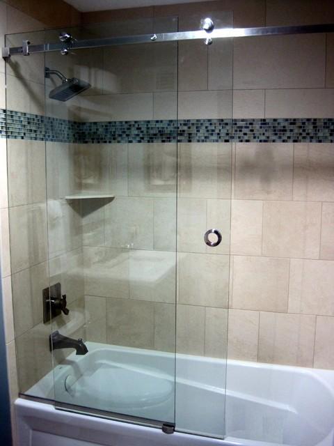 Serenity Frameless Sliding Shower Door Contemporary