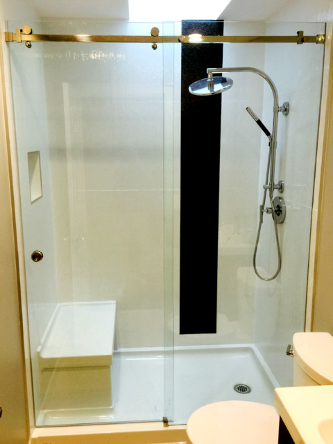 Serenity sliding shower door vancouver shower glass for Sliding glass doors vancouver