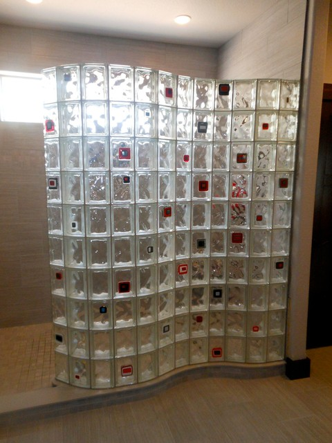 Glass Block Shower Wall Products on Houzz