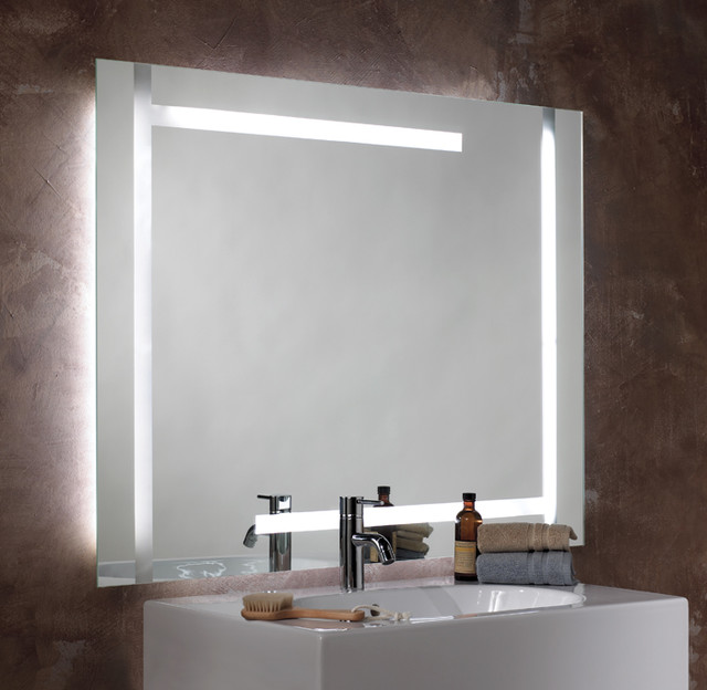 Séura Lighted Mirror Quatro Design Contemporary Bathroom
