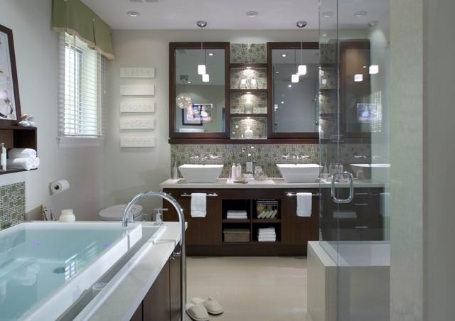high tech bath design by candice olson