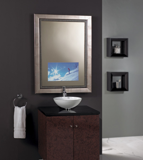 Séura Vanishing Vanity Tv Mirror Contemporary Bathroom