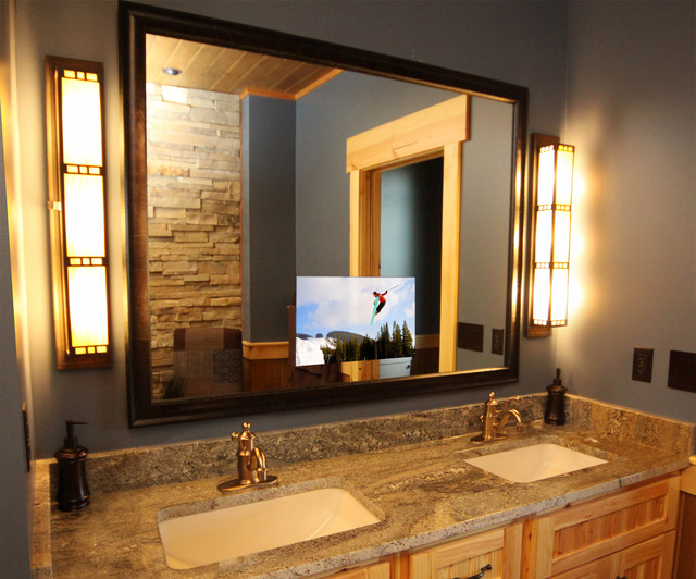 Luxury Lodge Master Bathroom - bathroom - by Seura