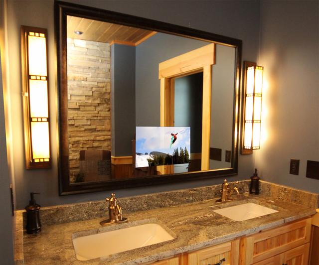 Luxury Lodge Master Bathroom bathroom