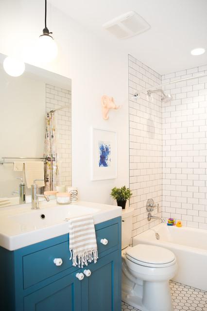 Modern Farmhouse Bathroom seward modern farmhouse - kids bathroom - farmhouse - bathroom