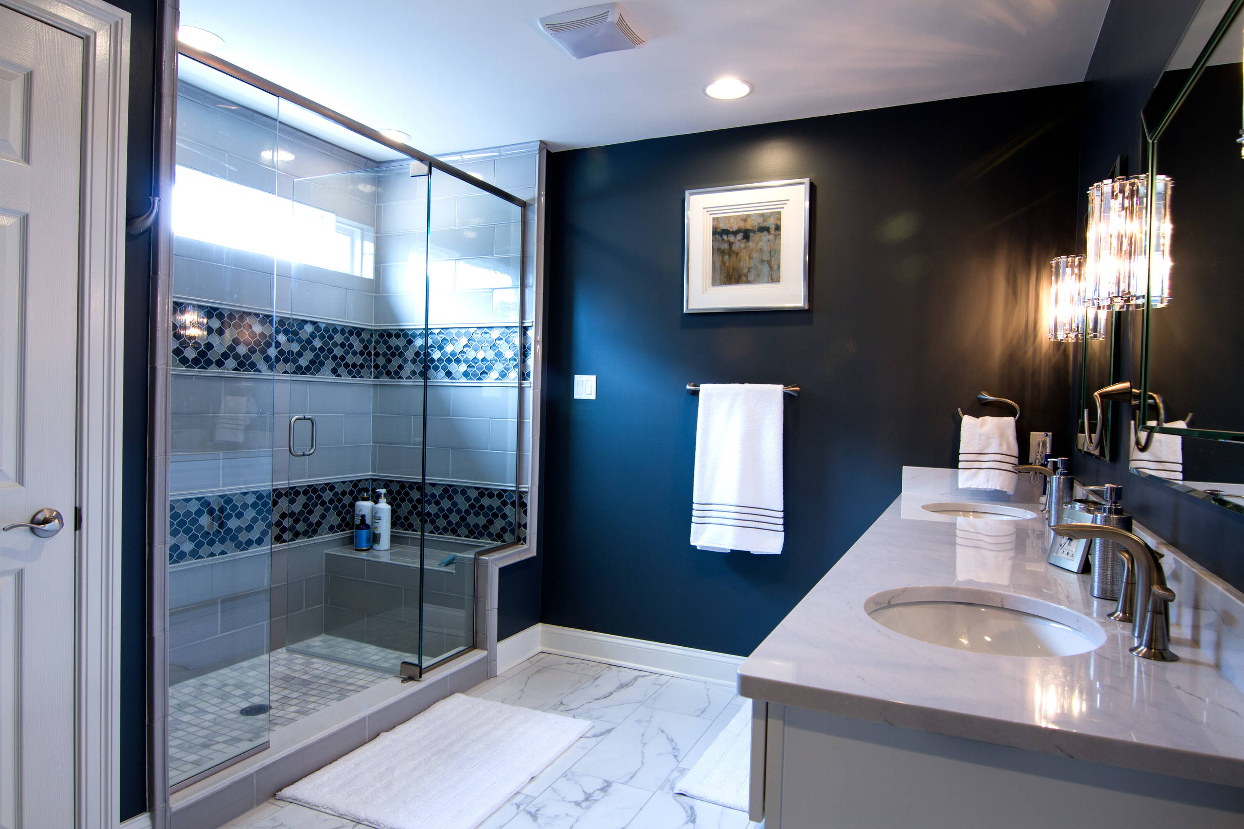Navy Blue Bathroom Ideas  Houzz
