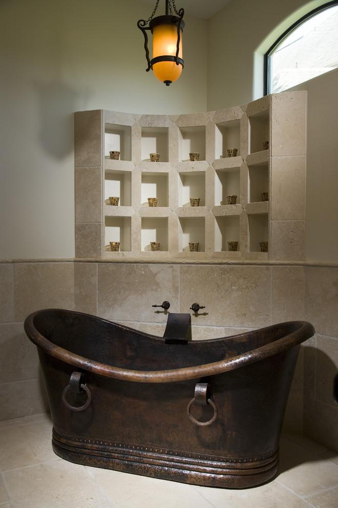 Tuscan freestanding bathtub photo in Houston