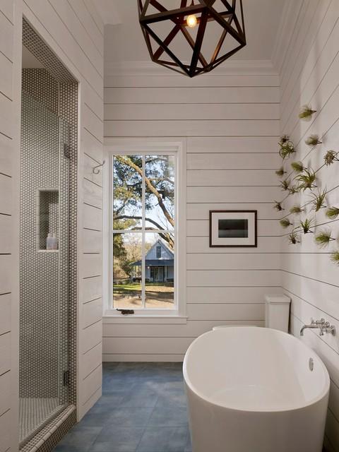 SF Ranch House Retreat farmhouse-bathroom