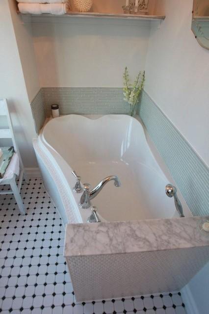 shabby chic bathroom reno