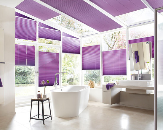 """German Shade Systems by, Fenstermann - Bottom up - top Down operation up to up to 5 feet in width, chain operated up to 8 feet in width, motorized available , sheer, Blackout or Translucent. Top/Down Bottom/Up with 400 different European fabrics. Also called """"plissee"""", these are made in Germany, exclusive to Fenstermann. We also offer Roman Shades, Panel Blinds, Cellular Shades, Wood Blinds, Roller Shades, Double Roller Shades, Natural Woven Shades, Exterior Shutters, and Custom Vertical Shades."""