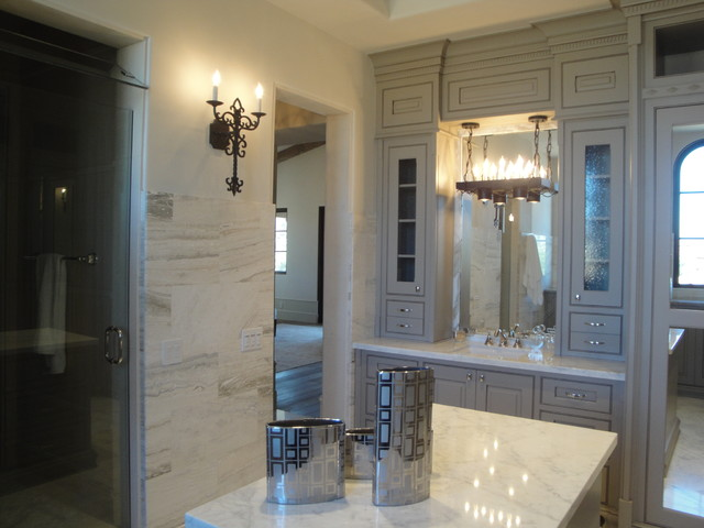 Shady Canyon French Chateau Estate - Mediterranean - Bathroom ...