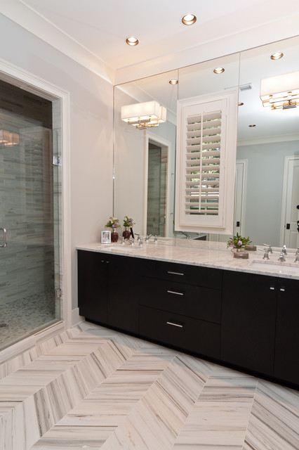 shady grove master bath transitional bathroom