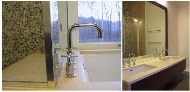 Sharon House Interiors modern-bathroom