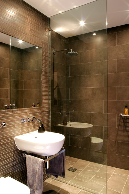 Ordinaire Sharp Modern Design Basement Shower Room