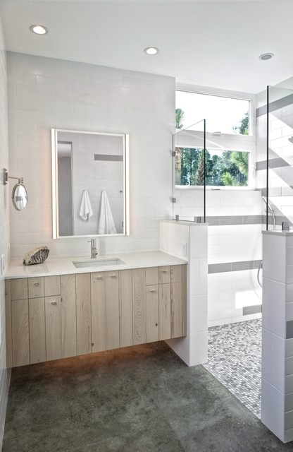 Sharp Residence contemporary bathroom