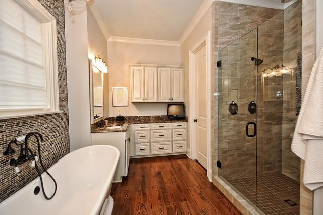 Shea custom transitional bathroom charlotte by for Shea custom home plans