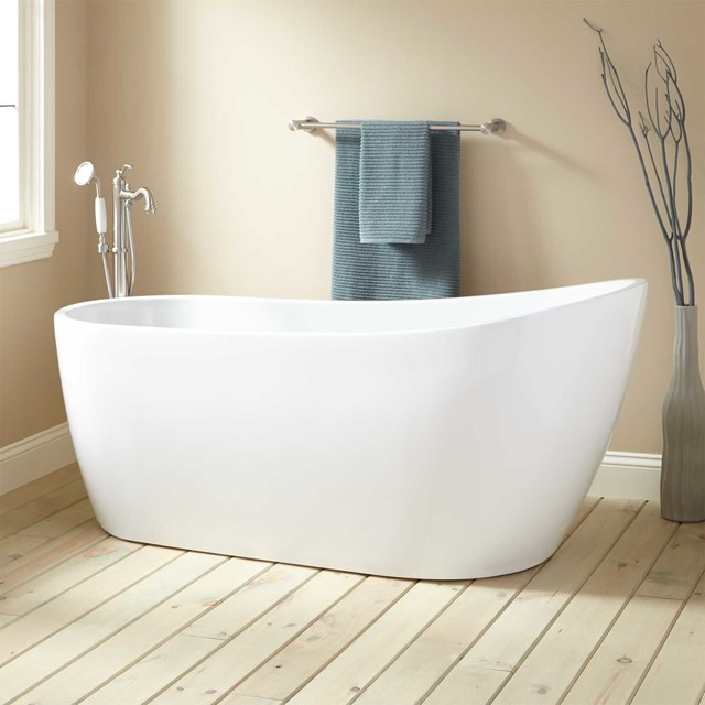 Sheba acrylic slipper tub contemporary bathroom for Pros and cons of acrylic bathtubs