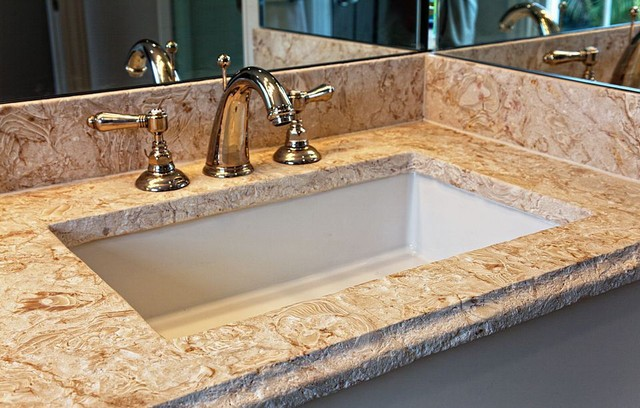 Shells Reef Coral Stone Tropical Bathroom Miami By
